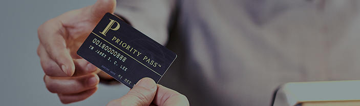 Priority pass card holder