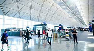 The airport terminal at Singapore Changi Airport