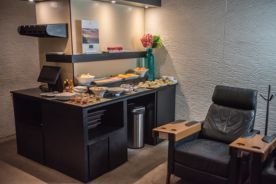 Lounge19 has many different areas to suit your travelling needs