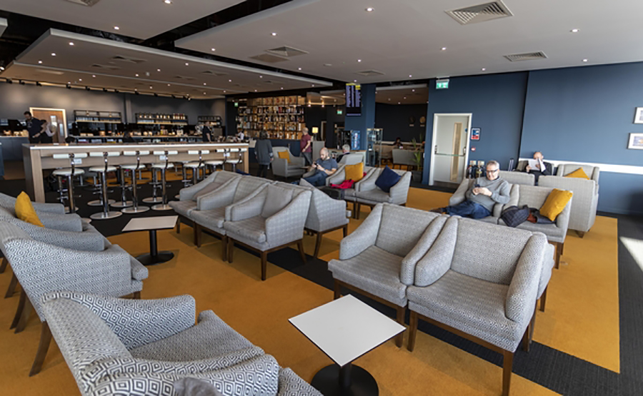 The Northern Lights Lounge in Aberdeen International Airport was part of the airport's £20 million investment