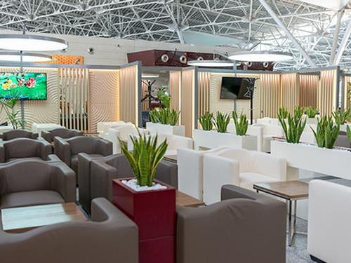 Business Lounge (International and Domestic), Moscow Vnukovo International, Russia